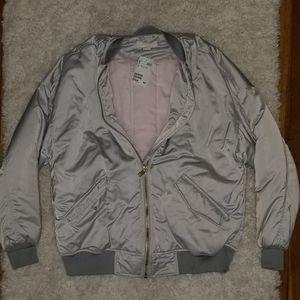 H&M Silverish Bomber Jacket - Never worn